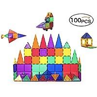 大容量高級磁石/マグネットブロック100ピースセット 知育玩具 【6か月保証書付き】ピタゴラスの補充用商品に! 磁石マグネット 子供のプレゼントにOK