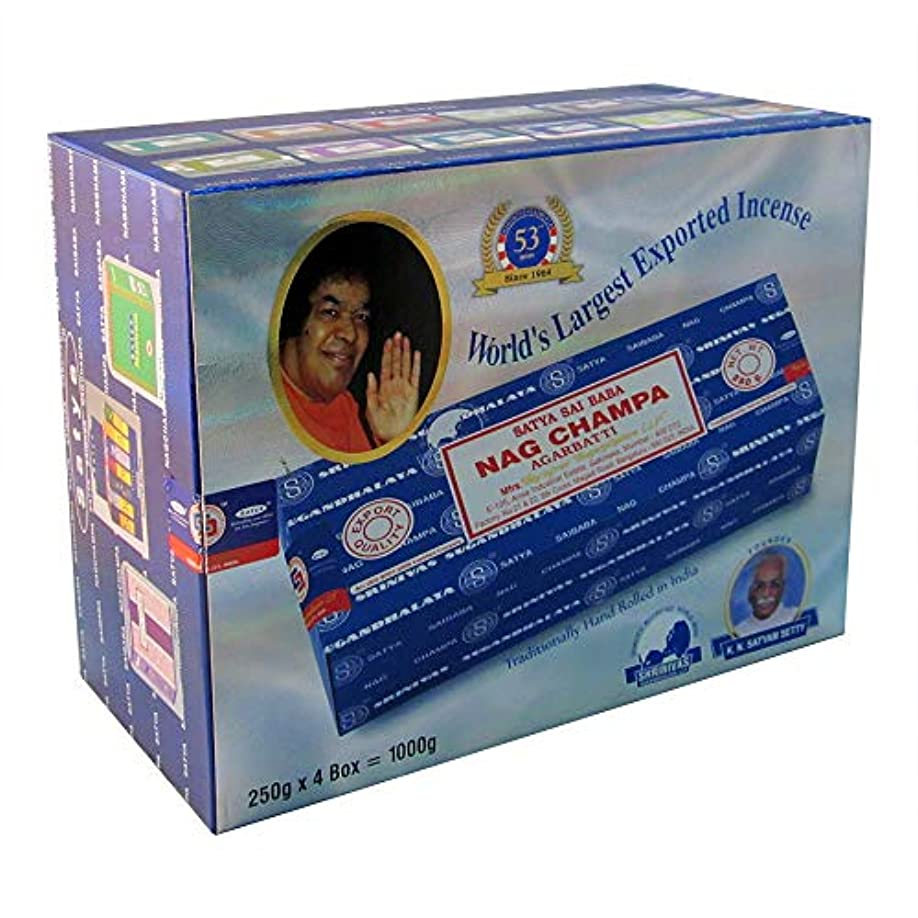 有限カートンポーンSai Baba Nag Champa Incense 1,000 Gram (1,000g - 4 packs) 141[並行輸入]