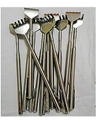 伸縮伸縮式バックスクラッチャーステンレススチール製ポータブル伸縮式ハンディポケットペンクリップバックスクラッチャー(スライバー)