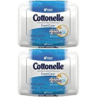 Cottonelle Fresh Care Flushable Moist Wipes Tub 42ct 2pk [並行輸入品]