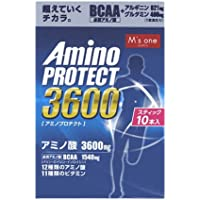 エムズワン アミノプロテクト レモンフレーバー 顆粒 スティック (4.5g×10本入) アミノ酸3600mg BCAA1540mg