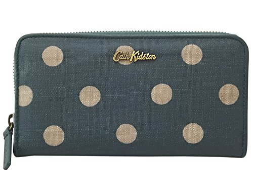 CathKidston キャスキッドソン 長財布 EMBOSSED ZIP WALLET 592635 Button Spot Rich Green [並行輸入品]