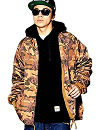 (ディーオーピー) DOP ナイロンコーチジャケット メンズ 迷彩柄 マリア ブラウンカモ 大きいサイズ ストリート系