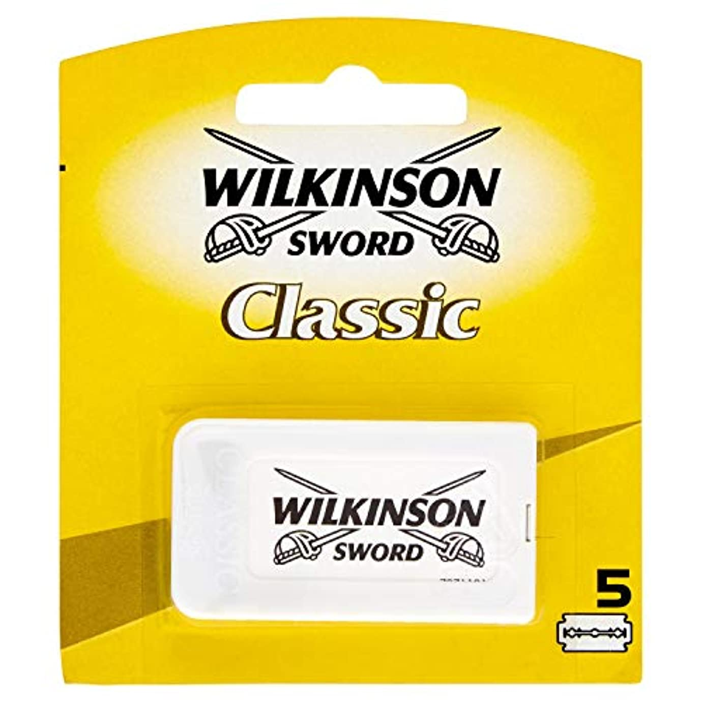 提出するキッチンわかりやすいWilkinson Sword(ウィルキンソンソード) Classic 両刃替刃 5個入り [並行輸入品]