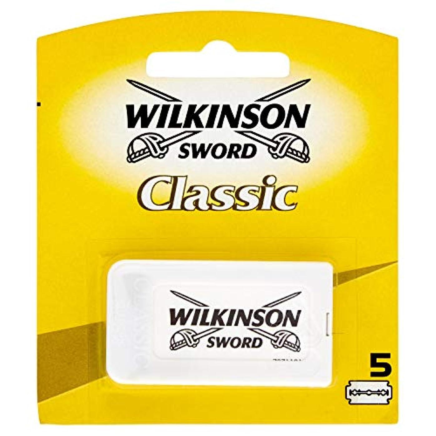 汚れた乳白色スキーWilkinson Sword(ウィルキンソンソード) Classic 両刃替刃 5個入り [並行輸入品]