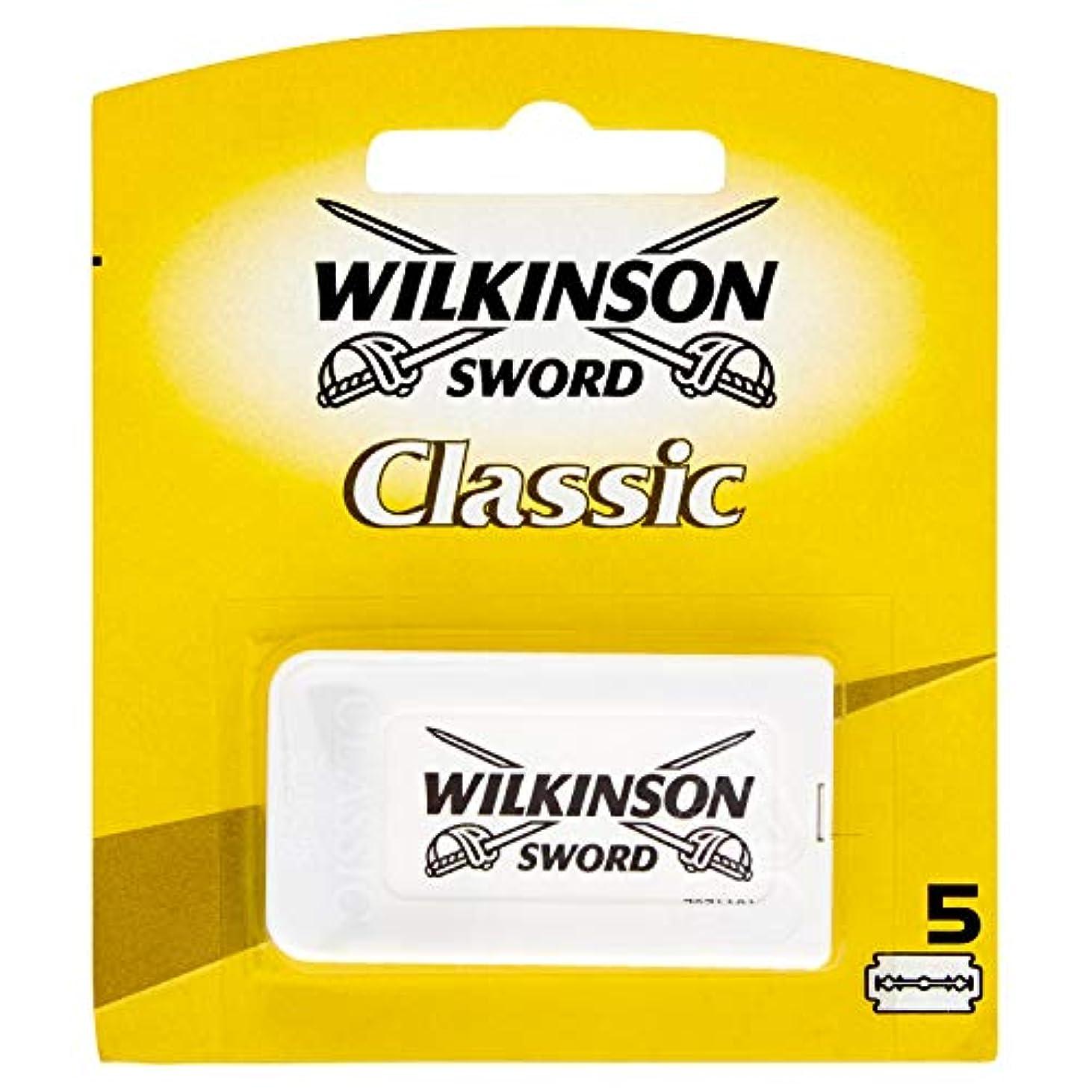 会社失効家Wilkinson Sword(ウィルキンソンソード) Classic 両刃替刃 5個入り [並行輸入品]