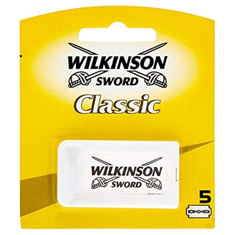 週間シェルター摩擦Wilkinson Sword(ウィルキンソンソード) Classic 両刃替刃 5個入り [並行輸入品]