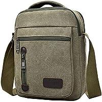 COMVIP 2Kinds Men's Canvas Casual Business Travel Handle Crossbody Handbag