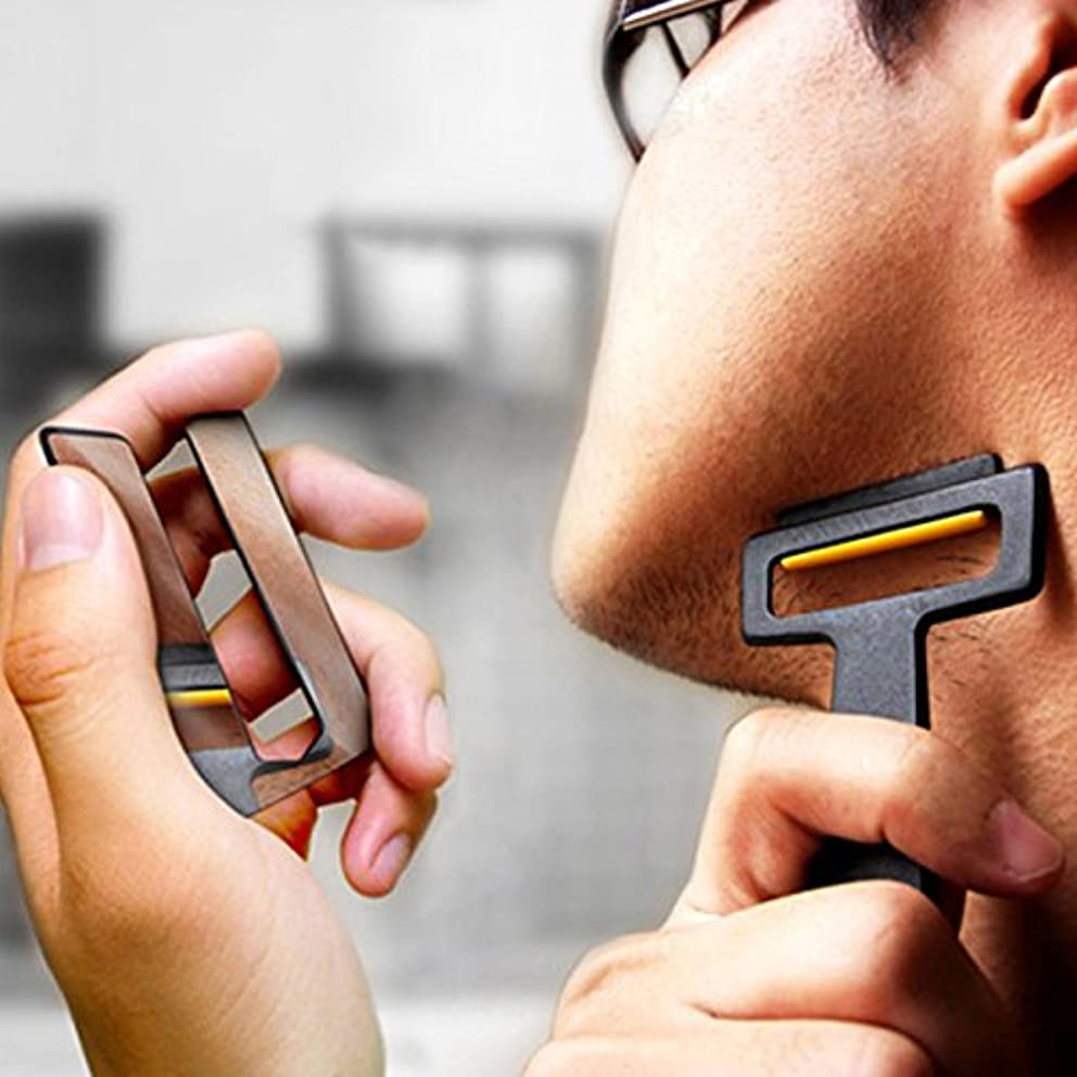 マッシュ違う残高Pogass Carzor 3 In 1 Card設計された財布ミニかみそりビードポータブルひげ剃りミラースタンドキット