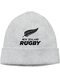 Rahaka ラハカ ラグビーニュージーランド代表 野球 イラスト 大人 ヘッジキャップ ニット帽子 スポーツ かわいい グレー One Size