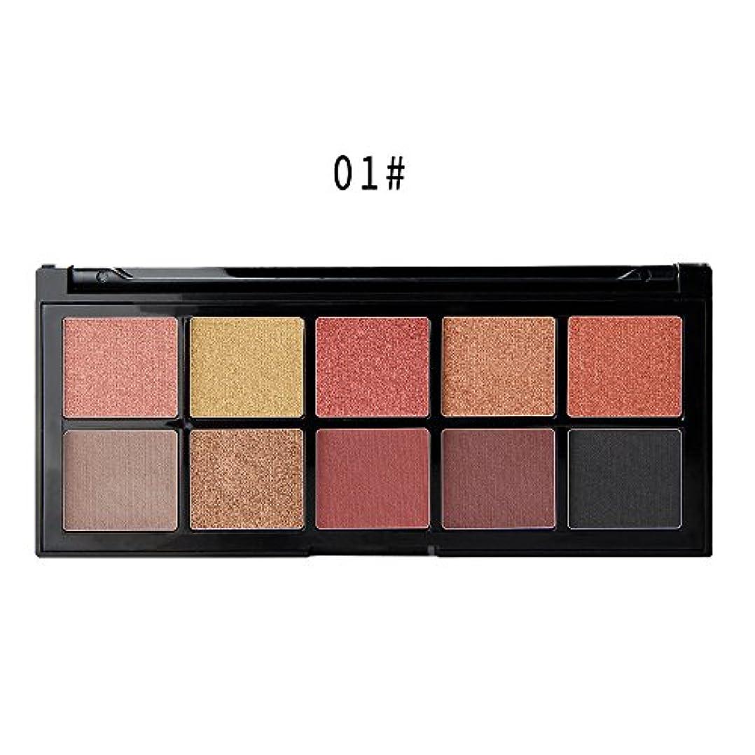 Lazayyii 10色 アイシャドウパレット 化粧ブラシ Eye Shadow グリッターアイシャドウ パール マットマット高発色 透明感 保湿成分 暖色系 アイシャドウ (A)
