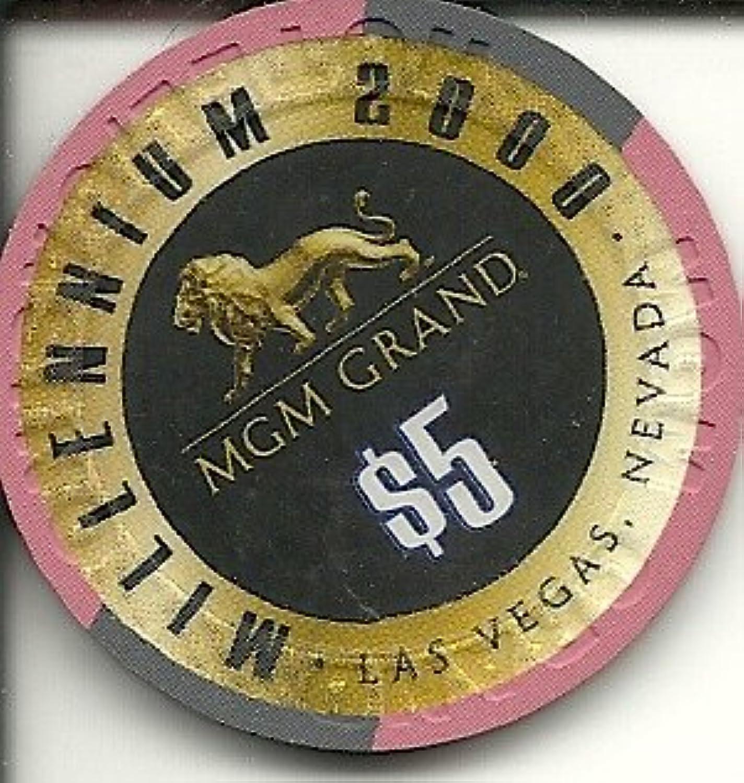 $ 5 MGM Grand 2000 Millenniumヴィンテージラスベガスカジノチップ