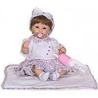 scdoll Lifelike赤ちゃん人形、ビニール新生児幼児Reborn Dolls with MagneticおしゃぶりPricess Girls Play Toy 16インチ40 cm