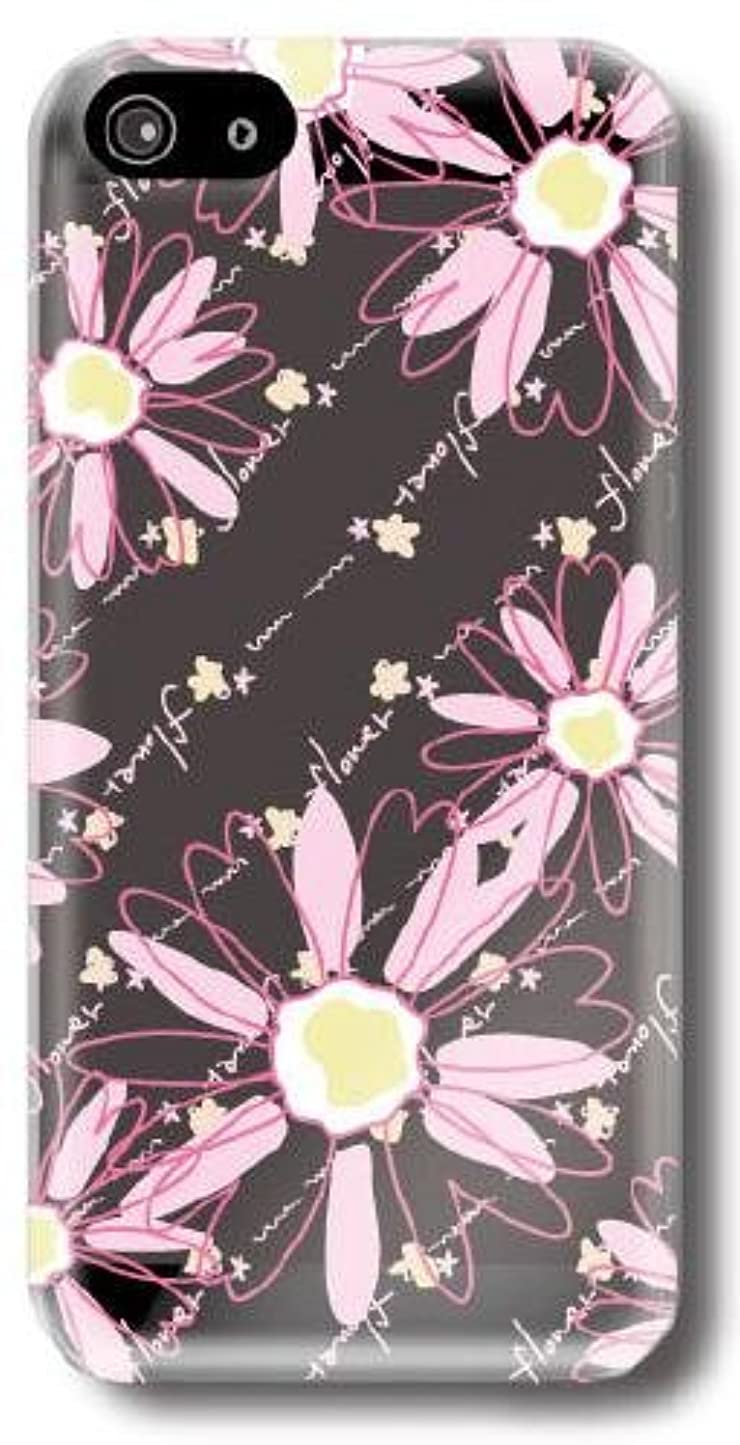 彫る汚れる新年【Paiiige】pop flowers pink (クリア)/ for iPhone5/softbank専用ケース SFIPN5-100-A001