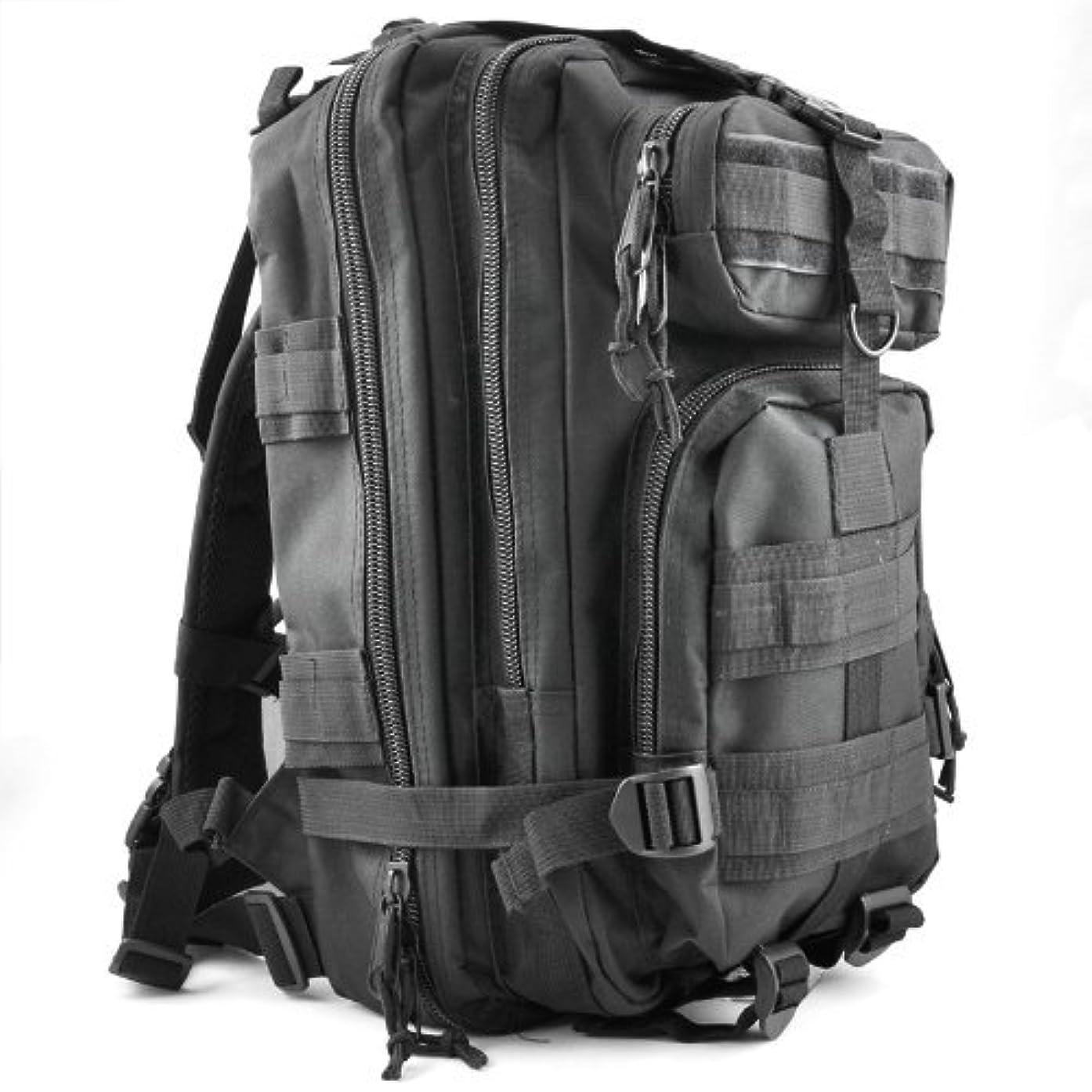 ストレスしばしばドアリュック,SODIAL(R)30L 戦術アウトドア軍事リュック サック バックパックハイキングトレッキングバッグキャンプ - 黒