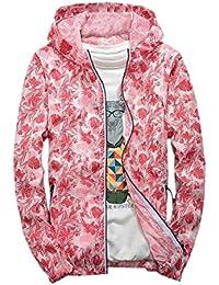 maweisong 花のフード付きの軽量で通気性のジャケットのコート