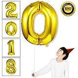 Takefuns 40インチ アルファベット 風船 飾り品 誕生日パーディー ヘリウム アルミ箔 マイラー 艶ゴールデン(0)
