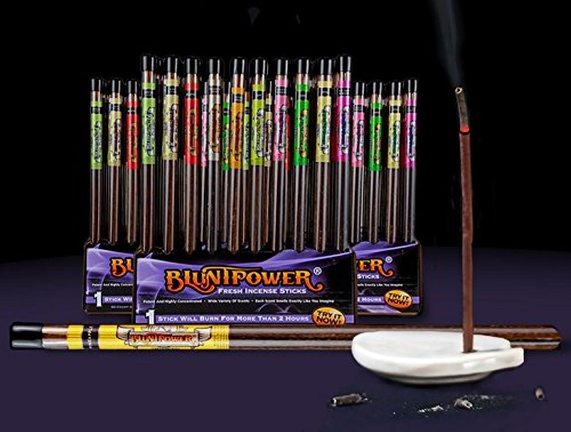 進化うつ表現BluntPower Air Freshener Fresh Incense Sticks Assorted Scents ( 6ctパックof 10 ) – バルクパック、NOダンボール表示