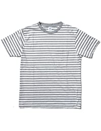 (ベルバシーン) Velva Sheen 161560N NARROW BORDER S/S C/N TEE W/PK ボーダーポケットTシャツ