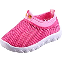 CIOR Kids Aqua Shoes Breathable Slip-on Sneakers for Running Pool Beach ToddlerU118STWX001,Pink,32