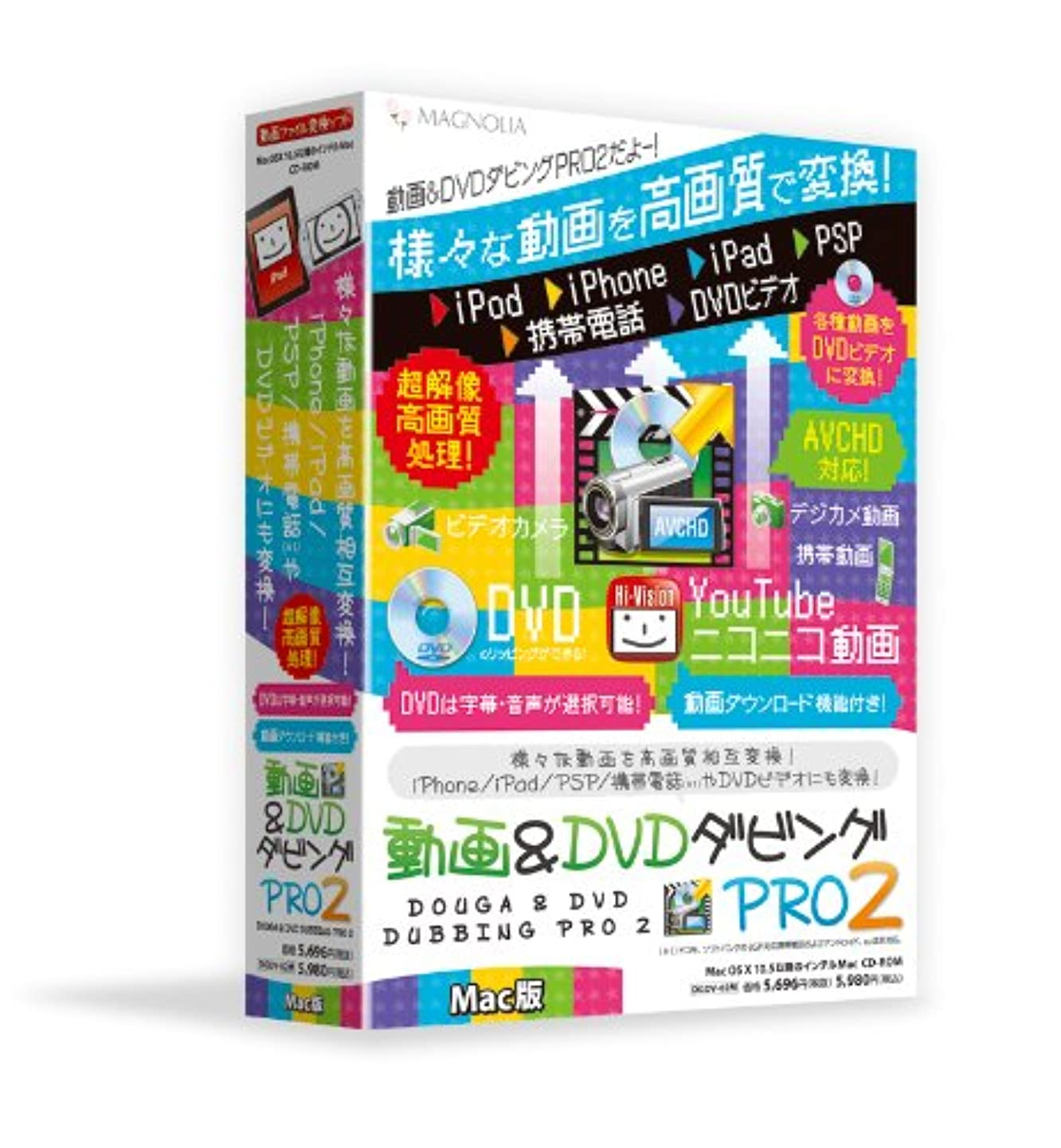 期限乳剤分子動画&DVDダビングPro2 Mac版