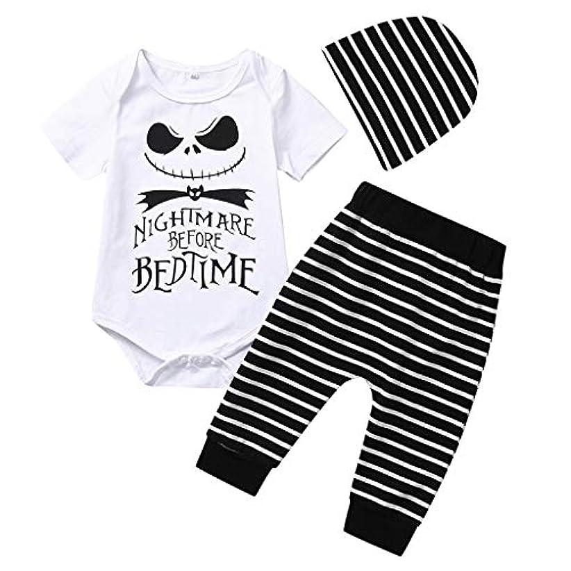 情報拍手ボールMISFIY ハロウィーン キッズ 子供 新生児 ベビー服 ロンパース 上下 セット 帽子 肌着 かわいい 柔らかい パジャマ 誕生記念 出産祝い 寝相アート