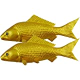 Gresorth シミュレーション偽の魚の黄金の鯉の子供のための人工的な装飾休日の装飾品のホームパーティーのおもちゃ