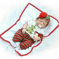 Reborn新生児Sleeping Girlフルボディシリコンベビービニール人形22インチRealistic子供クリスマスギフトwith磁気口