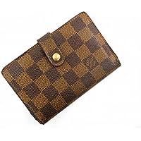 [ルイヴィトン] LOUIS VUITTON 二つ折り財布 ダミエ N61674 PVC×レザー X16864 中古
