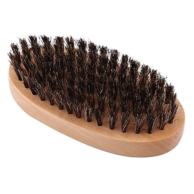 アンドリューハリディ発表アイドルシェービングブラシ メンズ ウッド 豚剛毛 クリーニング 髭剃り 泡立ち 洗顔ブラシ メンズ ブラック 楕円形