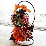 山久 造花 パンプキンとハロウィンモチーフのスタンドアレンジ ハロウィン シルクフラワー CT触媒 1809-4211