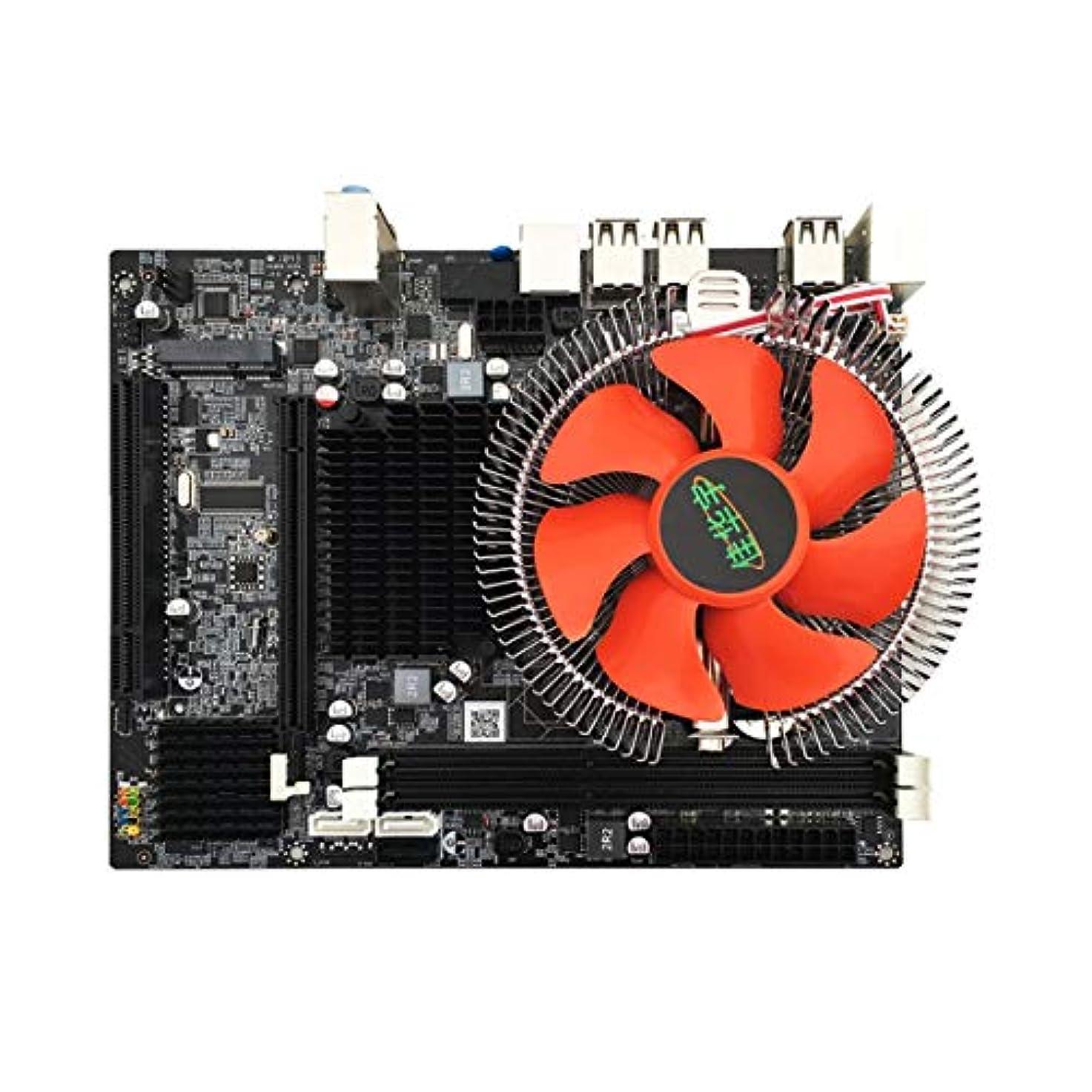 飾るボーナス鉄X58デスクトップPCマザーボードLGA 1366 E5645 6core 12Threads CPU + 8Gメモリ+ミュートファンコンピューターメインボードDDR3 RAM-マルチカラー