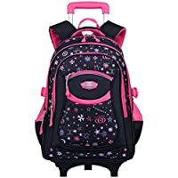 Rolling Backpack, Coofit Wheeled Backpack School Kids Rolling Backpack With Wheels (Coofit Originally Design Blue)