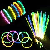 (iSmile) 光る ブレスレット 蛍光 ケミカルライト ペンライト 10色 50本セット 縁日 景品 イベント 用