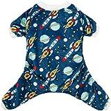 CuteBone Rocket Dog Pajamas Dog Apparel Dog Jumpsuit Pet Clothes Pajamas Puppy Clothes