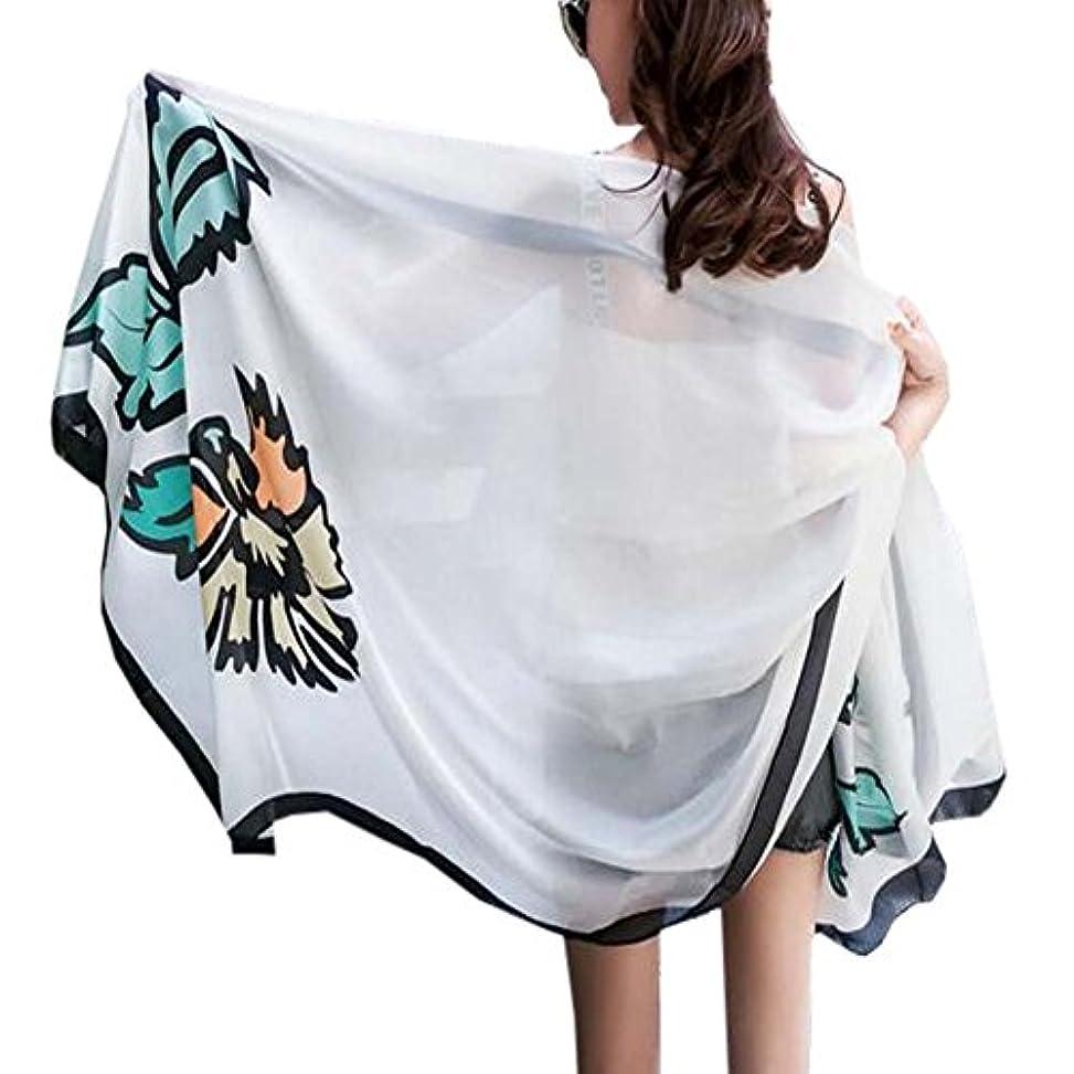 くさび育成獲物ビーチの日焼け止めのショール薄いスカーフデュアル印刷のスカーフエレガントなスカーフ四季のスカーフ
