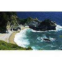 州立公園のビーチ キャンバスの 写真 ポスター 印刷 旅行 風景 景色 - (105cmx70cm)