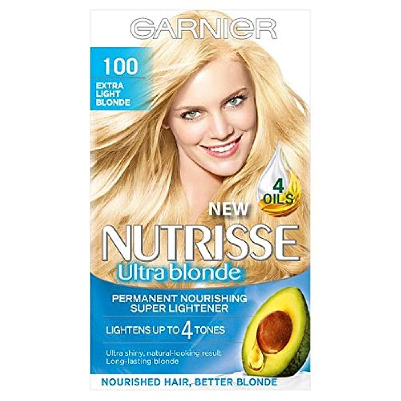 ダウンタウン倍増猟犬[Nutrisse] 100余分な光ブロンドの永久染毛剤Nutrisseガルニエ - Garnier Nutrisse 100 Extra Light Blonde Permanent Hair Dye [並行輸入品]