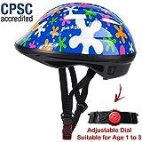 SG Dreamz幼児用ヘルメット - 幼児から幼児用、1歳から3歳まで調整可能 - 丈夫な子供用自転車ヘルメット、スポーティなデザインが楽しめる男の子と女の子は大好きです - 安全のために認定されたCSPC