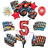 Mayflower Products Blaze and The Monster Machines 5歳の誕生日パーティー用品 8人のゲストデコレーションキットとバルーンブーケ