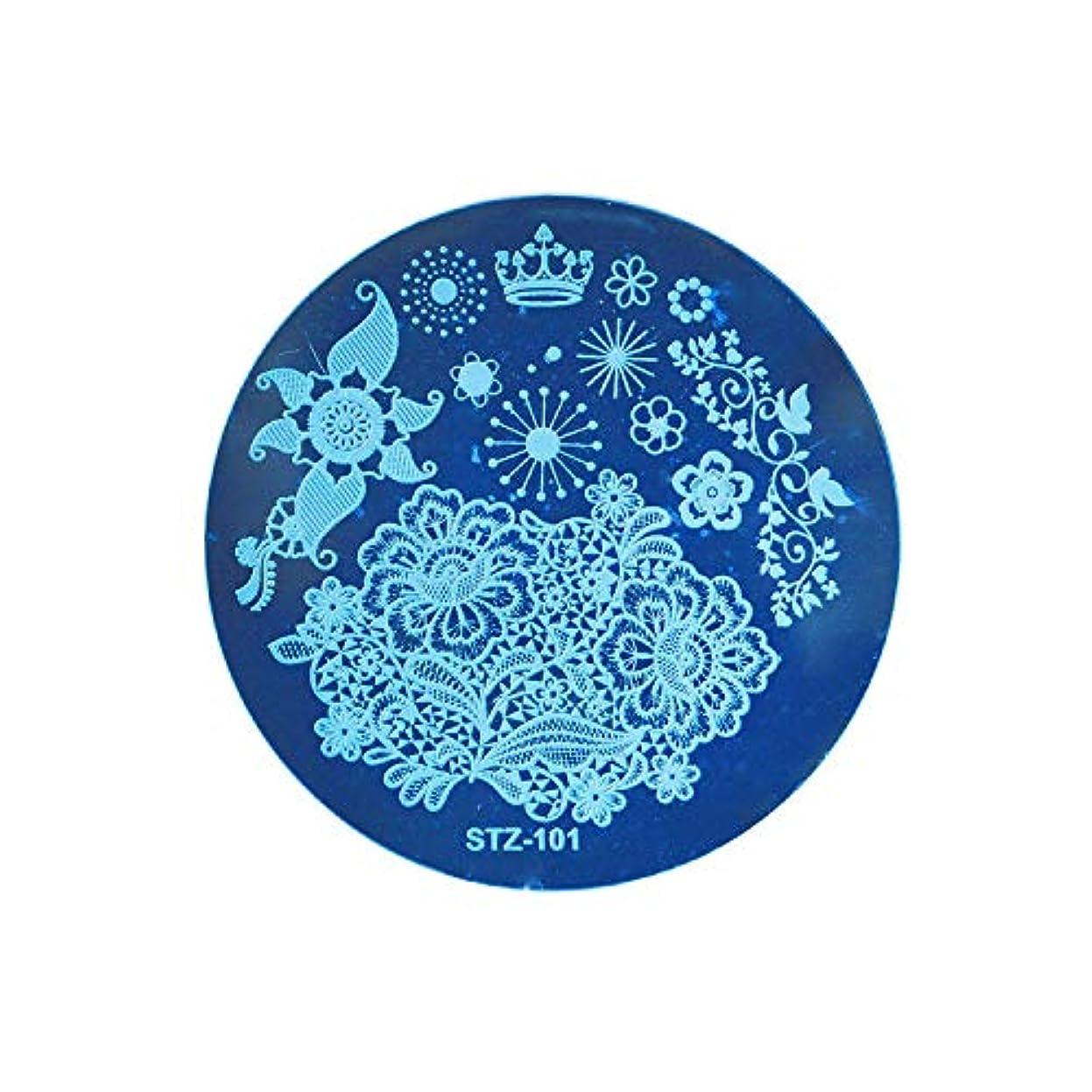 発見カブいろいろネイルアートスタンピングテンプレートDIYポーランドスタンパーマニキュアプリントネイルスタンピングプレートレースフラワーイメージペイントステンシルネイルアートキット,BBA129A