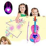 TiTCool 子供用バイオリン玩具 初心者音楽電子バイオリンライト 教育楽器おもちゃ 子供用 32*11cm DXL-181133
