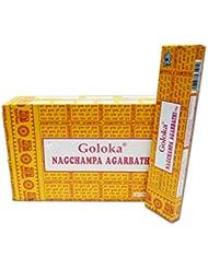 Goloka Nag Champa Incense, 16 Gms x 12 boxes