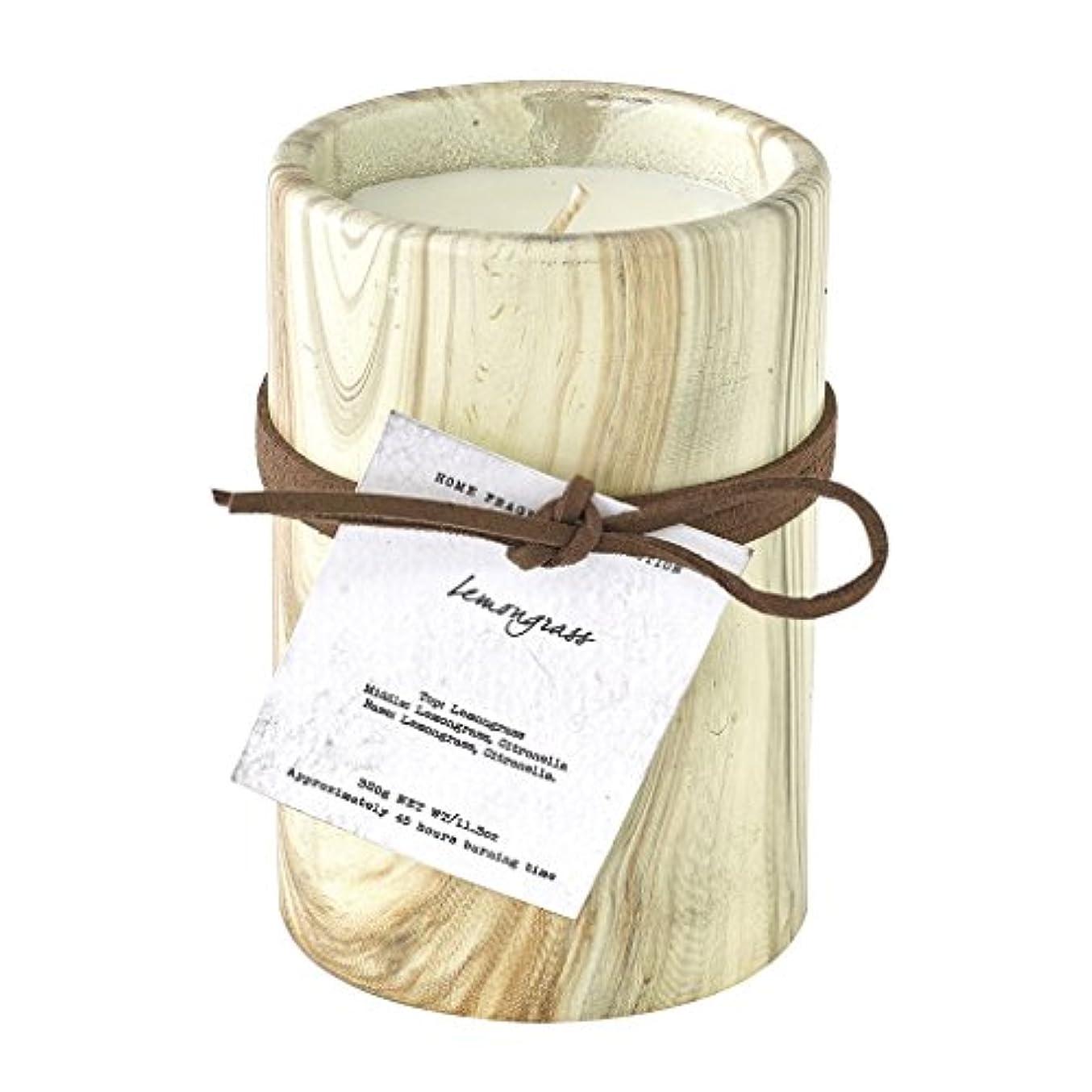 インタフェース植物学枕SPICE OF LIFE ろうそく マーブルアロマキャンドル レモングラス 250g 直径8cm 高さ11cm 香り 癒し リラックス SMLH1030LG
