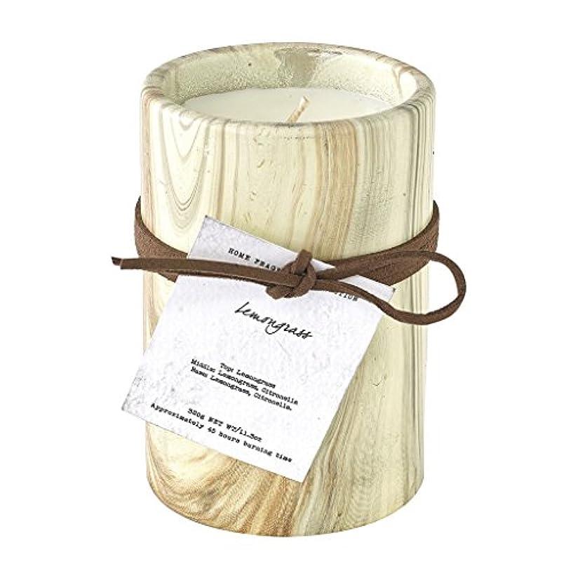 安心させる気楽なディレクトリSPICE OF LIFE ろうそく マーブルアロマキャンドル レモングラス 250g 直径8cm 高さ11cm 香り 癒し リラックス SMLH1030LG
