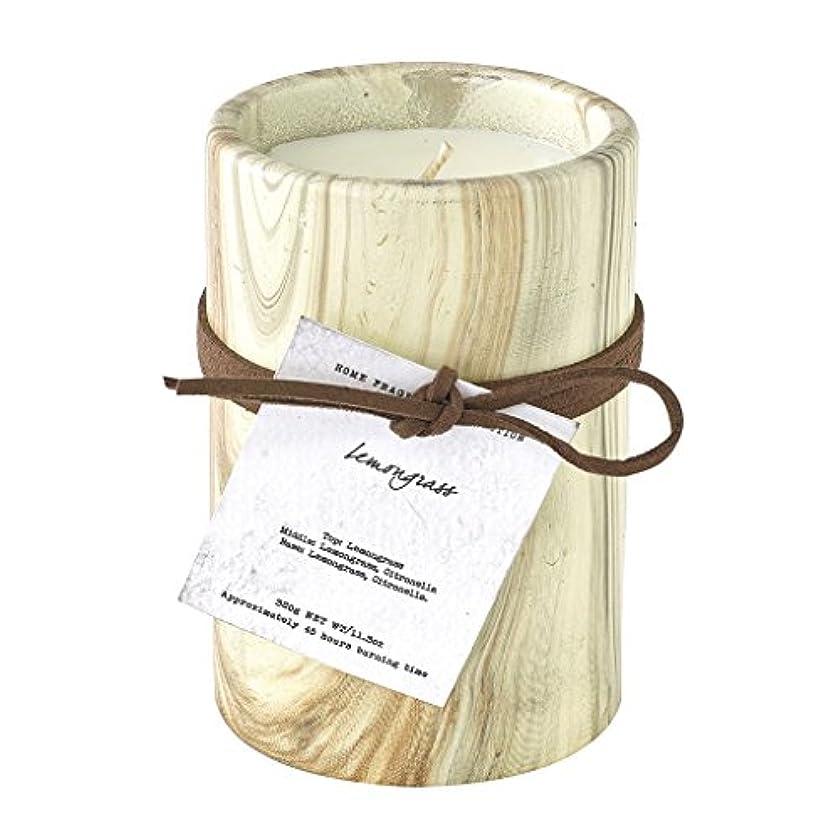 めんどり代表団フィッティングSPICE OF LIFE ろうそく マーブルアロマキャンドル レモングラス 250g 直径8cm 高さ11cm 香り 癒し リラックス SMLH1030LG