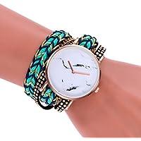 Swyssレディース編みブレスレットパーソナリティ時計シックアクセサリーファッショントレンドカジュアル腕時計 M LL10