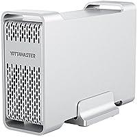 Yottamaster 2.5 インチ Type-C RAID ケース 2ビット 外付 2ベイ HDD/SSD ケース USB3.1 Gen2 ハードディスク けーす RAID0/RAID1/SPAN対応 10Gbps RAIDストレージ D25シリーズ (HDD付属なし)【改良版】
