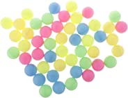 CUTICATE Set of 50 Assorted Color Ping Pong Balls Washable Plastic Entertainment Table Tennis Balls - Regulation Size Balls