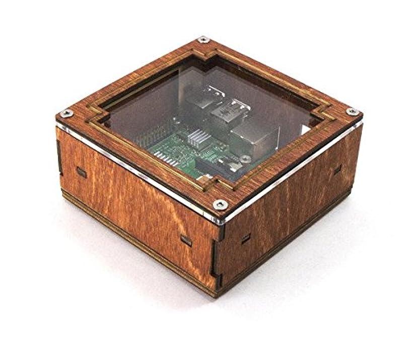十代の若者たち大破どんよりしたPi Squared – For Raspberry pi3、pi2とB +木製フレームクリアTall高さ